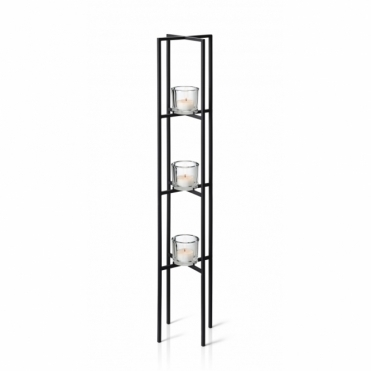 Nero Tealight / Candle Holder - 3 Tier Stand