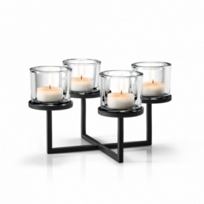 Nero Tealight / Candle Holder - Holds 4 Candles