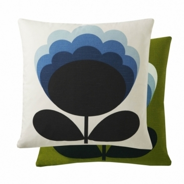 Blossom Flower Cushion - Duck Egg / Olive