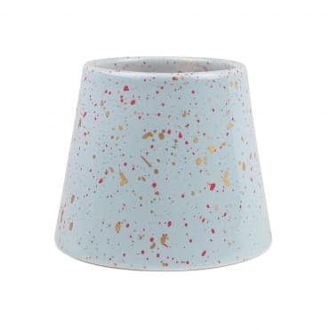 Blue Porcelain Candle 14oz - Cactus Flower & Coconut