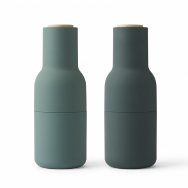 Bottle Grinders Salt & Pepper Set Dark Green