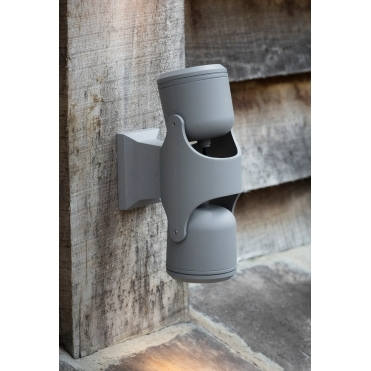 Bovingdon Steel Double LED Wall Light - Charcoal