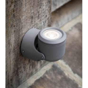Bovingdon Steel Single LED Wall Light - Charcoal