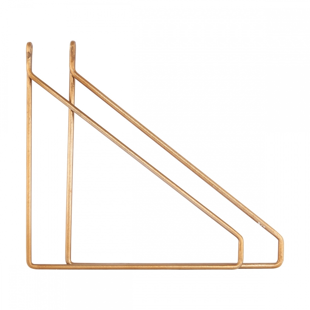 Exceptionnel Brass Shelf Brackets   Set Of 2