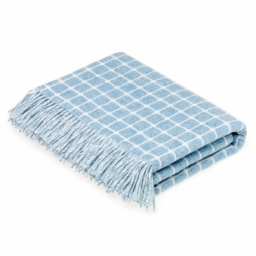 Merino Lambswool Athens Aqua Throw Blanket
