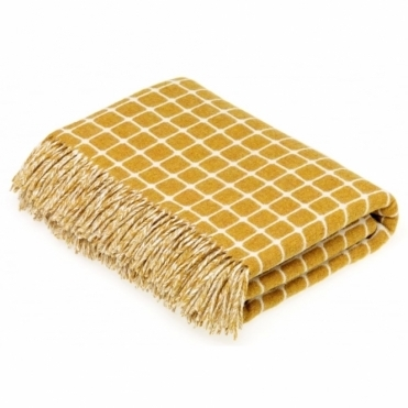 Merino Lambswool Athens Gold Throw Blanket