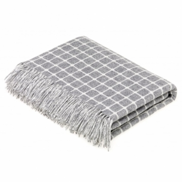 Merino Lambswool Athens Grey Throw Blanket