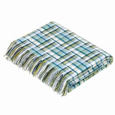 Merino Lambswool Dubai Jade Throw Blanket