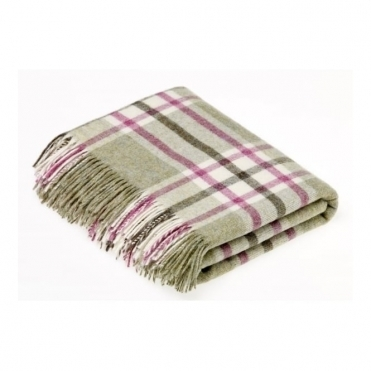Shetland Wool Arncliffe Fern Throw Blanket