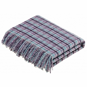 Shetland Wool Chicago Heather Throw Blanket