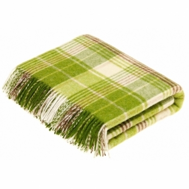 Shetland Wool Huntingtower Lime Throw Blanket