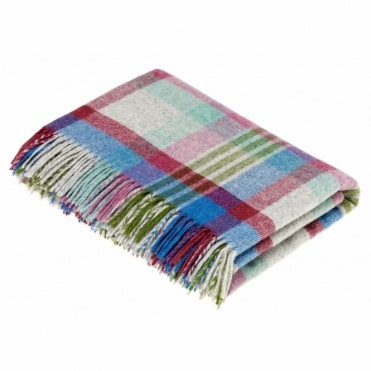 Shetland Wool Melbourne Thistle Throw Blanket