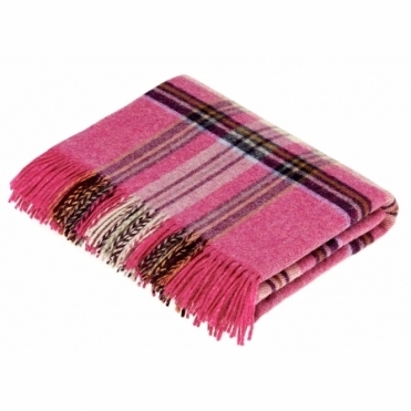Shetland Wool Prague Pink Throw Blanket