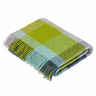 Shetland Wool Rome Jade Throw Blanket