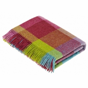 Shetland Wool Rome Thistle Throw Blanket