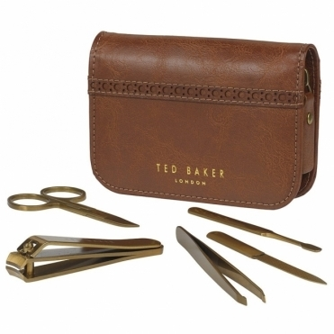 Brown Brogue Manicure Set