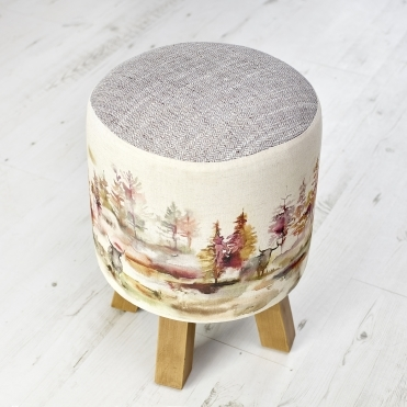 Caledonian Forest Monty Highland Cow Stool