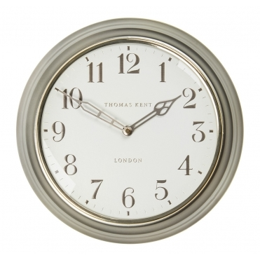 Campbell Wall Clock - Pewter