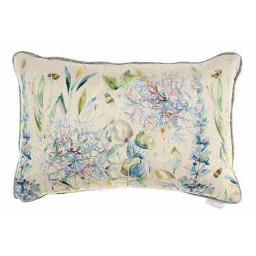 Carneum Capri Rectangular Cushion - Bees & Flowers