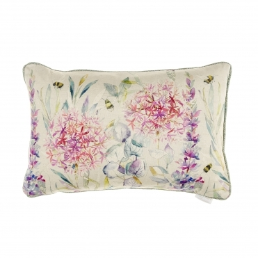 Carneum Sorbet Floral Rectangular Cushion