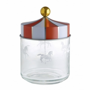 Circus Merry Go Round Glass Jar 75cl - by Marcel Wanders
