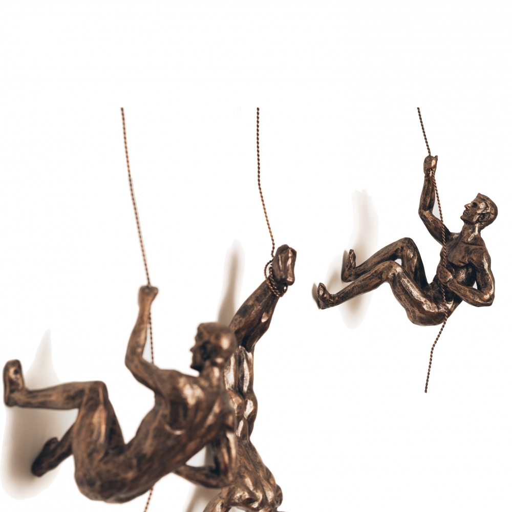 Climbing Men Trio Copper Wall Decor   Set Of 3