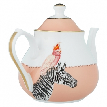 Cockatoo and Zebra Teapot
