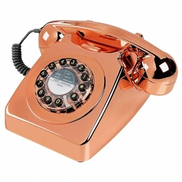 Copper 746 Push Button Telephone Retro Phone