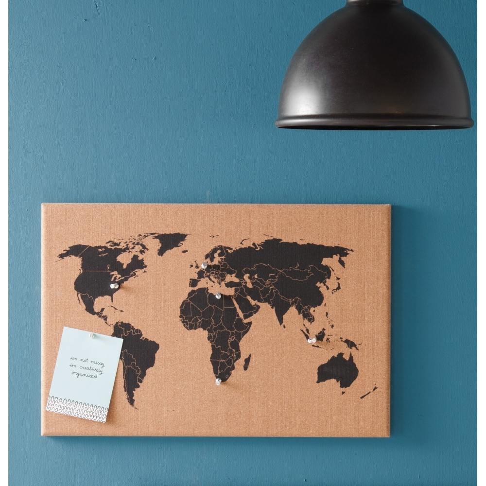 Corkboard world map wall mounted hurn and hurn corkboard world map wall mounted gumiabroncs Image collections
