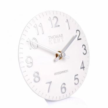 Cotswold Mantel Clock Snowberry White