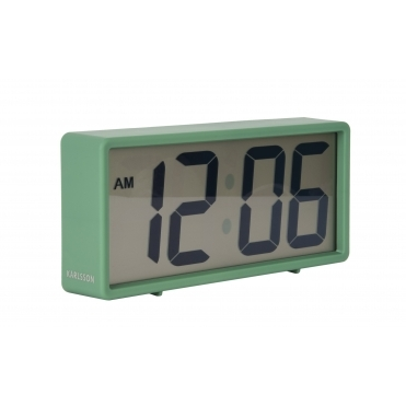 Coy Digital Rubberised Alarm Clock - Green