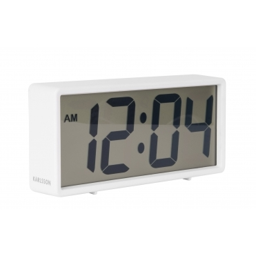 Coy Digital Rubberised Alarm Clock - White