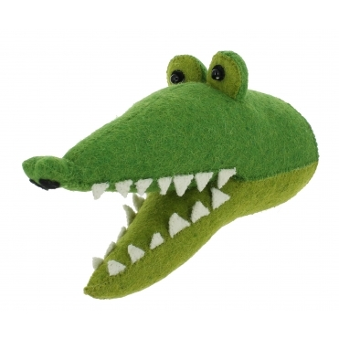 Crocodile Felt Animal Wall Head - Mini