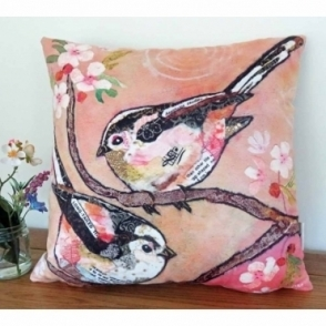 Bottoms Up Cushion - Long Tailed Tit