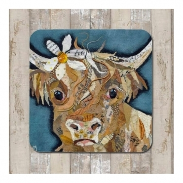 Florrie Coaster - Highland Cow