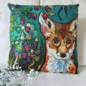 Fox in Brambles Cushion