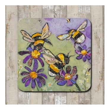 Humble Bumbles Coaster - Bees & Flowers