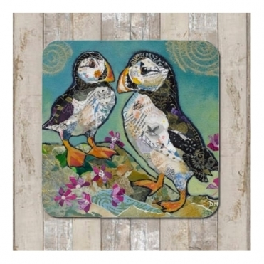 Puffin Pals Coaster - Puffins