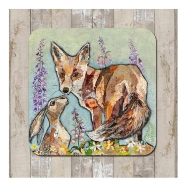 Unlikely Friends Coaster - Hare & Fox