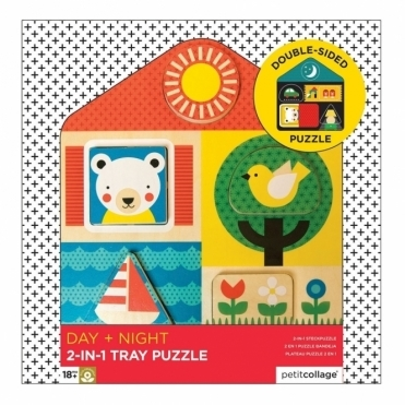 Day & Night Double Sided Wooden Puzzle