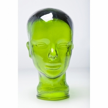 Decorative Glass Head Display Stand Green