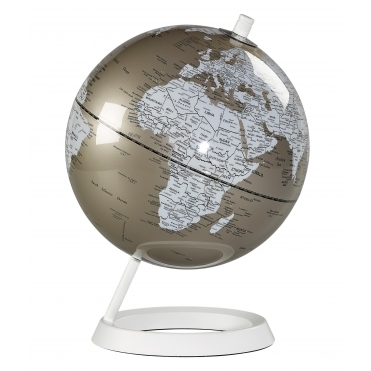 Desk Globe - Metallic Pewter