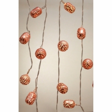 Copper Galore Maroq LED String Fairy Lights - Battery Operated