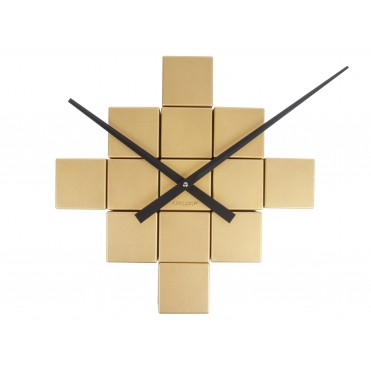 DIY Cubic Brushed Gold Wall Clock