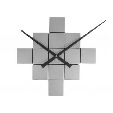 DIY Cubic Brushed Steel Wall Clock