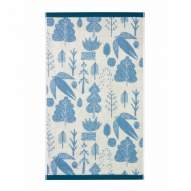 Bird & Tree Towels - Duck Egg