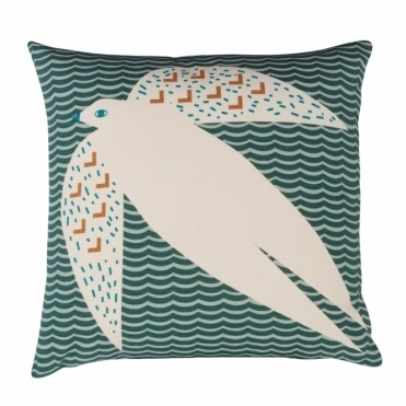 Flying Bird Cushion - Reverse Design Wavy