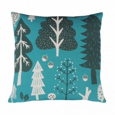Forest Turquoise Cushion - Reverse Design Spots
