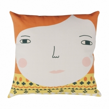 Meg Cushion - Reverse Design Raindrop Spots