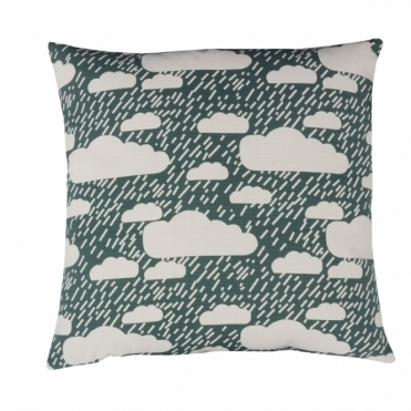 Rainy Day Green Cushion - Reverse Design